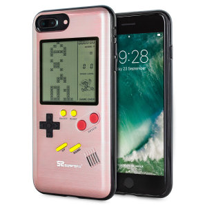 Transform your iPhone 7 Plus into a classic games console with this Retro Game Case by SuperSpot. Featuring an original Game Boy styled design, this case in rose gold will keep you entertained for hours while offering excellent protection.