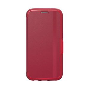 A sophisticated lightweight red case, the OtterBox leather design flip case offers perfect protection for your Samsung Galaxy S7.