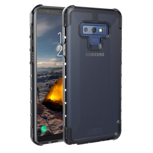 The Urban Armour Gear Plyo semi-transparent tough case in ice for the Samsung Galaxy Note 9 features reinforced Air-Soft corners and an optimised honeycomb structure for superior drop and shock protection.