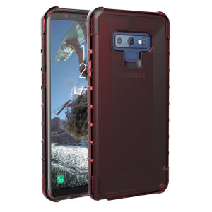 The Urban Armour Gear Plyo semi-transparent tough case in crimson for the Samsung Galaxy Note 9 features reinforced Air-Soft corners and an optimised honeycomb structure for superior drop and shock protection.