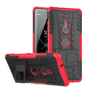 Protect your Sony Xperia XZ3 from bumps and scrapes with this red ArmourDillo case. Comprised of an inner TPU case and an outer impact-resistant exoskeleton, the Armourdillo not only offers sturdy and robust protection, but also a sleek modern styling.