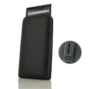 Protect your BlackBerry KEY2 with this stylish leather vertical pouch case with included belt clip by PDair. Designed using specially selected premium leather and featuring a hand stitched design, PDair cases are perfect for work and social situations.
