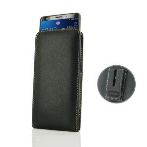 Schützen Sie Ihr HTC U12 Plus mit dieser stylischen vertikalen Ledertasche mit Gürtelclip von PDair. Die PDair-Taschen aus speziell ausgesuchtem Premium-Leder und mit handgenähtem Design sind perfekt für Arbeits- und Sozialsituationen geeignet.
