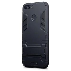 Protect your Huawei P Smart 2018 from bumps and scrapes with this black dual layer armour case from Encase. Comprised of an inner TPU section and an outer impact-resistant exoskeleton, with a built-in viewing stand.