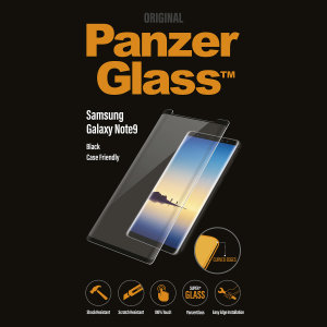 Introducing the premium range PanzerGlass glass screen protector in black. Designed to be shock and scratch resistant, PanzerGlass offers the ultimate protection, while also matching the colour of your stunning Samsung Galaxy Note 9.