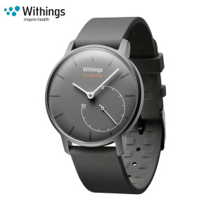 The beauty of analogue with the intelligence of digital, the Withings Activité Pop in shark grey is a watch featuring a classic analogue design that includes built-in fitness tracking that connects to your smartphone for activity data monitoring.