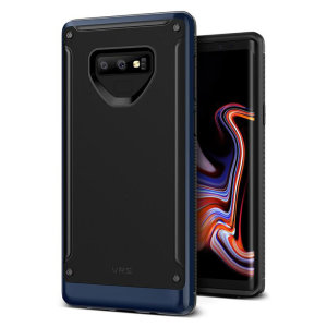 Protect your Samsung Galaxy Note 9 with this precisely designed High Pro Shield series case in deepsea blue from VRS Design. Made with tough dual-layered yet slim material, this hardshell body with a sleek bumper features an attractive two-tone finish.