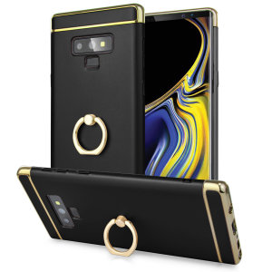 Custom made for the Samsung Galaxy Note 9, this black XRing case from Olixar provides excellent protection and a handy finger loop to keep your phone in your hand, whether from accidental drops or attempted theft.