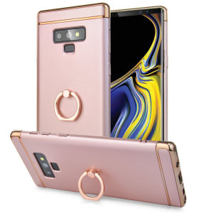 Custom made for the Samsung Galaxy Note 9, this rose gold XRing case from Olixar provides excellent protection and a handy finger loop to keep your phone in your hand, whether from accidental drops or attempted theft.