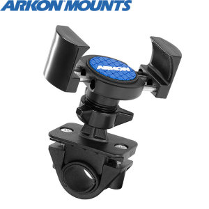 Designed to fit most handlebars up to 33mm, the Arkon RoadVise Bike Mount allows you to attach your phone on your handlebars in either landscape or portrait orientation.