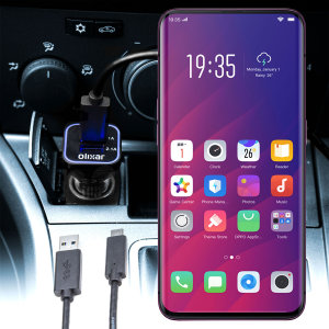 Keep your Oppo Find X fully charged on the road with this compatible Olixar high power dual USB 3.1A Car Charger with an included high quality USB to USB-C charging cable.