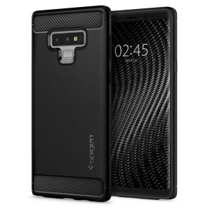 Meet the newly designed rugged armor case for the Samsung Galaxy Note 9. Made from flexible, rugged TPU and featuring a mechanical design, including a carbon fibre texture, the rugged armor tough case in black keeps your shiny new phone safe and slim.