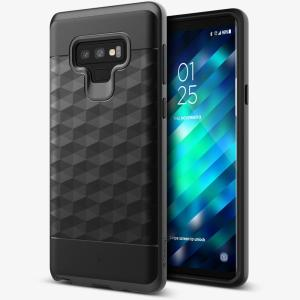 Protect your Samsung Galaxy Note 9 with this stunning premium dual-layered shell case in black. Made with tough dual-layered yet slim material, this hardshell body with a sleek metallic bumper features an attractive two-tone finish.