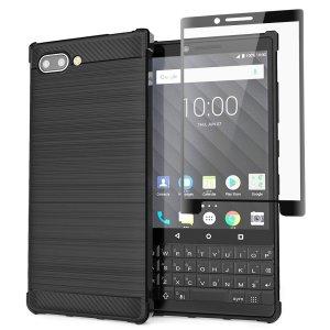 Das robuste Olixar Sentinel-Gehäuse in Schwarz schützt Ihr BlackBerry Key2 durch ein robustes Gehäuse aus hochwertigem matten, rutschfesten Kohlefaser- und gebürstetem Metallgehäuse und bietet einen zusätzlichen Schutz aus gehärtetem Glas