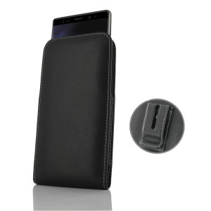 Protect your Samsung Galaxy Note 9 with this stylish leather pouch case with included belt clip by PDair. Designed using specially selected premium leather and featuring a hand stitched design, PDair cases are perfect for work and social situations.