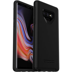 The dual-material construction makes the Symmetry black case for the Samsung Galaxy Note 9 one of the slimmest, yet most protective case in its class. The Symmetry series has the style you want with the protection your brand new phone needs.