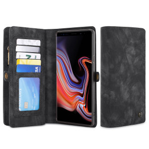 This luxury wallet pouch case for the Samsung Note 9 in black combines exceptional utility with a professional aesthetic to create a case that's perfect for everyday use. Complete with detachable inner frame for travelling light, as well as a zip pouch.