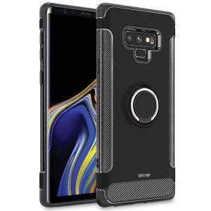 Gemaakt voor de Samsung Galaxy Note 9, deze ArmaRing case van Olixar biedt extreme bescherming en een vingerlus om je telefoon in de hand te houden, of het nu gaat om een val of een poging tot diefstal. Verdubbelt ook als een stand.