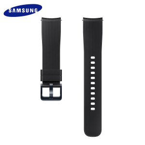 Treat your brand new Samsung Galaxy Watch with the ultra-high quality silicone strap in black. Comfortable, durable and stylish, this 20mm strap is the perfect way to personalise your Samsung Galaxy Watch.