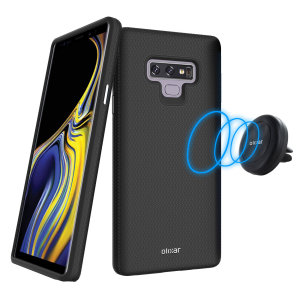 Hold your phone safely in your car while shielding it from damage with this Olixar Magnus magnetic car holder / protective case combo for your Samsung Galaxy Note 9 - in black.