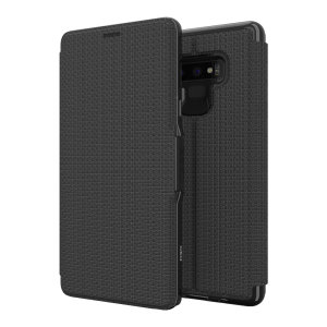The Oxford case from GEAR4 in black is crafted in a textured material with a slim look which offers fantastic all round protection for the Samsung Galaxy Note 9.