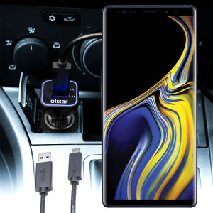 Keep your Samsung Galaxy Note 9 fully charged on the road with this compatible Olixar high power dual USB 3.1A Car Charger with an included high quality USB to USB-C charging cable.