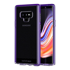 Tech21 Evo Check case for Samsung Galaxy Note 9 in ultra violet features three layers of ultimate protection against scratches, bumps and drops. Despite being ultra-thin and lightweight, the case protects your device from drops of up to 12ft (3.66m)!