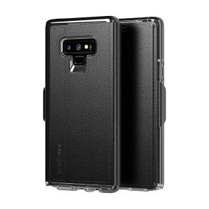 The Evo Wallet case by Tech21 carefully surrounds your Galaxy Note 9 with a slim-fitting see-through back case and a tactile folio cover. The Evo Wallet case comes with 2 concealed slots for your debit, credit or personal ID cards.