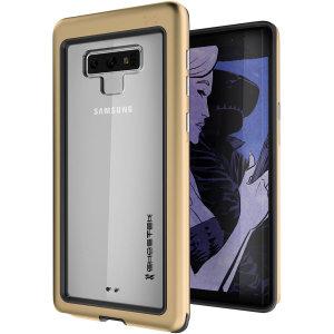 Equip your Samsung Galaxy Note 9 with the most extreme and durable protection around! The gold Ghostek Atomic provides rugged drop and scratch protection whilst keeping the phone slim.