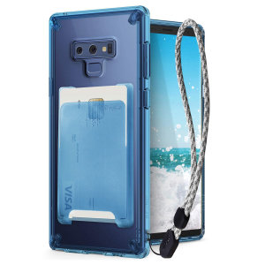 The 3-in-1 kit in blue Rearth Ringke Fusion Samsung Galaxy Note 9 is an exceptional utility with a professional aesthetic to create a case that's perfect for everyday use. Complete with flip wallet attachment and wrist strap to secure your phone.