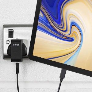 Charge your Samsung Galaxy Tab S4 and any other USB device quickly and conveniently with this compatible 2.4A high power USB-C UK charging kit. Featuring a UK wall adapter and USB-C cable.