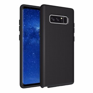 The Eiger North Dual Layer Protective Case in black is a hybrid ergonomic protective case for the Samsung Galaxy Note 9, providing fantastic protection without adding excessive bulk.