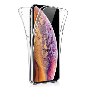 At last, a Apple iPhone XS Max case that offers all around front, back and sides protection and still allows full use of the phone. The Olixar FlexiCover in crystal clear is the most functional and protective gel case yet.