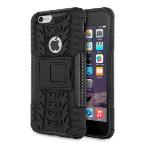 Protect your iPhone 6S / 6 from bumps and scrapes with this black ArmourDillo case from Olixar. Comprised of an inner TPU case and an outer impact-resistant exoskeleton, with a built-in viewing stand.