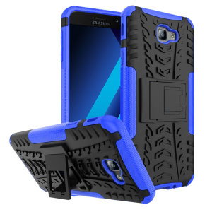 Protect your Samsung Galaxy A5 2017 from bumps and scrapes with this blue ArmourDillo V2 case. Comprised of an inner TPU case and an outer impact-resistant exoskeleton, offering sturdy and robust protection, but also a sleek modern styling.