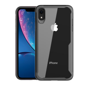Olixar NovaShield iPhone XR Bumper Case - Black / Clear