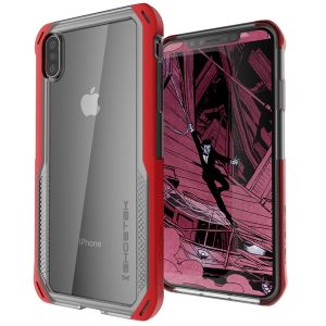 The Cloak 4 Protective case in red and clear from Ghostek provides your iPhone XS with fantastic all round protection.