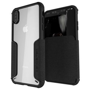 The Exec premium case in black provides your iPhone XS Max with fantastic protection. Also featuring storage slots for your credit cards, ID and cash.