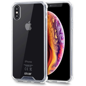 Custom Maßgefertigt für den iPhone XS Max. Dieses kristallklare, robuste Gehäuse von Olixar ExoShield bietet ein schlankes, elegantes Design und einen verstärkten Schutz gegen Ecken und Kanten, damit Ihr Gerät jederzeit gut aussiehtfor the Apple iPhone XS Max. This black and clear Olixar ExoShield tough case provides a slim fitting stylish design and reinforced corner shock protection against damage, keeping your device looking great at all times.