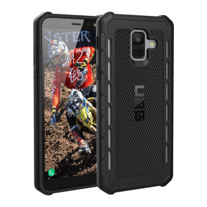 The Urban Armour Gear Outback for the Samsung Galaxy A6 2018 features a protective TPU case in black with cleverly conceived anti-skid pads and a  lightweight but rugged frame - all in one sleek protective package.