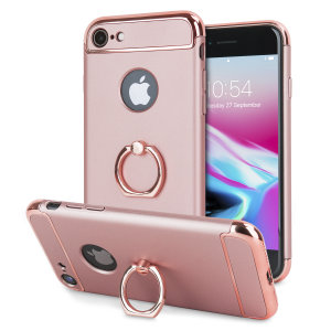 Custom made for the iPhone 6S / 6, this rose gold XRing case from Olixar provides excellent protection and a handy finger loop to keep your phone in your hand, whether from accidental drops or attempted theft.