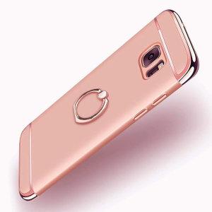 Maßgeschneidert für das Samsung Galaxy S7, bietet dieses XRing-Etui aus Roségold von Olixar hervorragenden Schutz und eine praktische Fingerschlaufe, um Ihr Handy in der Hand zu halten, sei es durch versehentliche Stürze oder versuchten Diebstahl.