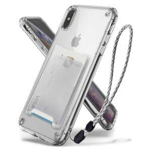 The 3-in-1 Clear Rearth Ringke Fusion for iPhone XS is an exceptional utility with a professional aesthetic to create a case that's perfect for everyday use. Complete with wallet attachment and wrist strap to secure your phone to your hand.