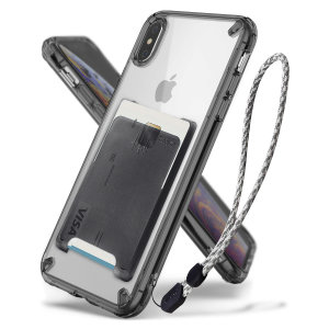 The 3-in-1 Rearth Ringke Fusion in smoke black for iPhone XS Max is an exceptional utility with a professional aesthetic to create a case that's perfect for everyday use. Complete with wallet attachment and wrist strap to secure your phone to your hand.