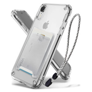 The 3-in-1 Clear Rearth Ringke Fusion for iPhone XR is an exceptional utility with a professional aesthetic to create a case that's perfect for everyday use. Complete with wallet attachment and wrist strap to secure your phone to your hand.