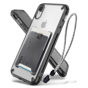 The 3-in-1 Rearth Ringke Fusion in smoke black for iPhone XR is an exceptional utility with a professional aesthetic to create a case that's perfect for everyday use. Complete with wallet attachment and wrist strap to secure your phone to your hand.