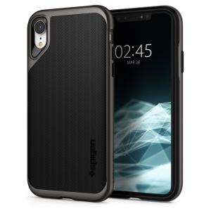 The Spigen Neo Hybrid in gunmetal colour is the new leader in lightweight protective cases. Spigen's new Air Cushion Technology reduces the thickness of the case while providing optimal corner protection for your iPhone XR.