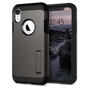The Spigen Tough Armor in gunmetal is the new leader in lightweight protective cases. The new Air Cushion Technology corners reduce the thickness of the case while providing optimal protection for your iPhone XR.