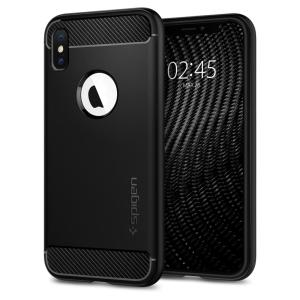 Meet the newly designed rugged armor case for the iPhone XS. Made from flexible, rugged TPU and featuring a mechanical design, including a carbon fibre texture, the rugged armor tough case in matte black keeps your new phone safe and slim.
