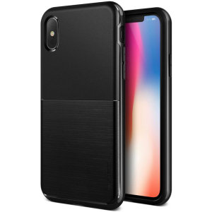 Protect your Apple iPhone XS with this precisely designed high pro shield series case in metallic black from VRS Design. Made with tough dual-layered yet slim material, this hardshell body with a sleek bumper features an attractive two-tone finish.